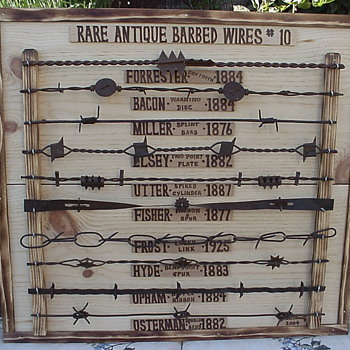 2 of my 11 rare barbed wire plaques - Tools and Hardware