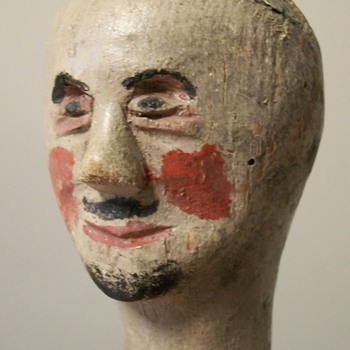 19th Century Folk Art Puppet Doll Head Collection Jim Linderman