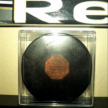 Art Ross Game Used Hockey Puck Pittsburgh Hornets