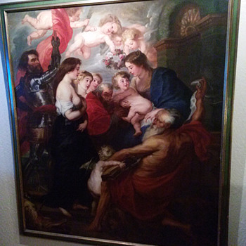 "1800s painting of Sir Peter Paul Rubens  ""The Virgin and Child with Saints"" - Visual Art"