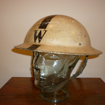 British WW11 Senior Wardens steel helmet. - Military and Wartime