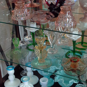 Some of My Glass Candlestick Collection