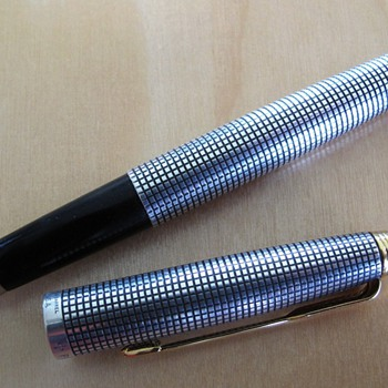 This is another interesting pen, the Parker 75 Ciselle in Sterling Silver