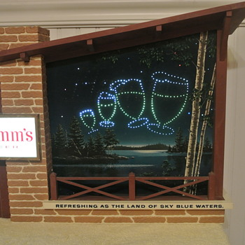 "1960's Hamm's Beer ""Starry Skies"" Motion Advertising Light Sign"