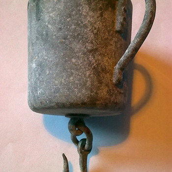 Mug with hanging hook.