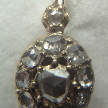 Fine antique 18k Rose gold diamond earrings