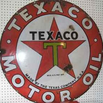 Texaco Porcelain Sign - Signs