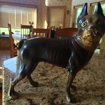 Boston terrier -  door stop