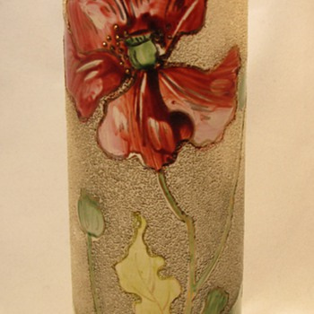 Mont Joye  art nouveau glass vase - Art Glass