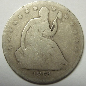 1861 POSSIBLY Confederate Half Dollar.