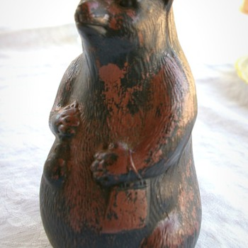 Need any info on this Curious looking Bear pottery Vase - Art Pottery