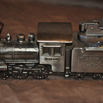 Vintage train table lighter