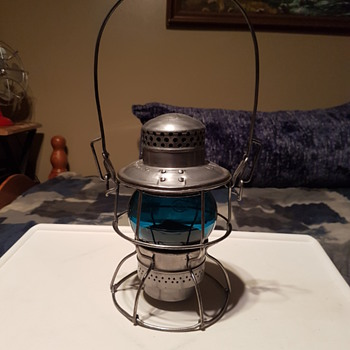 CNR Blue Railroad Lantern