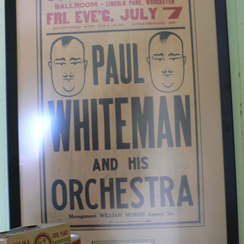 Paul Whiteman concert poster - Music