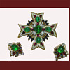 Trifari Jewels of India Maltese Cross and Earrings