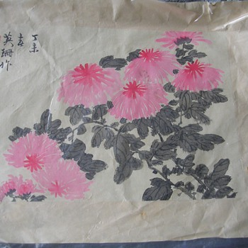 Two Japanese Wood Block or Water color prints Signed