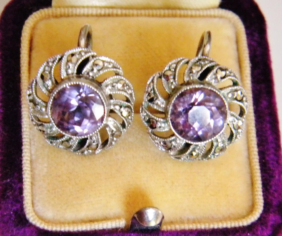 vintage marcasite 835 earrings jpg 1080x810