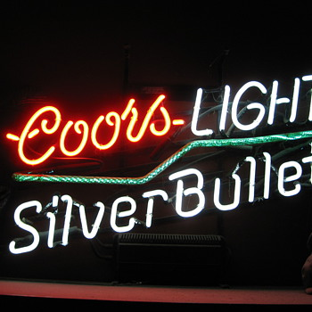 Coors light with Crackle Tube neon sign