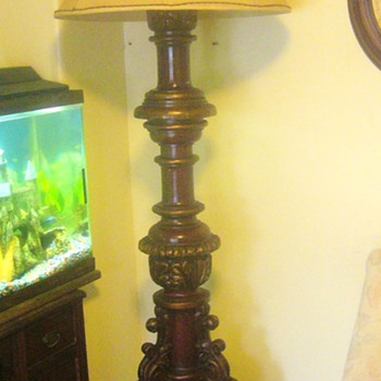 hand carved floor lamps