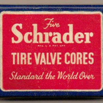 1950's - Schrader Tire Valve Cores - Advertising