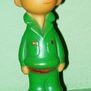 Beetle Bailey Rubber Squeeker - Dolls