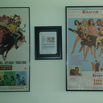 2 original Elvis Presley movie posters / Elvis Presley personal estate posters