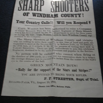 Berdan's Sharpshooters Civil War Poster