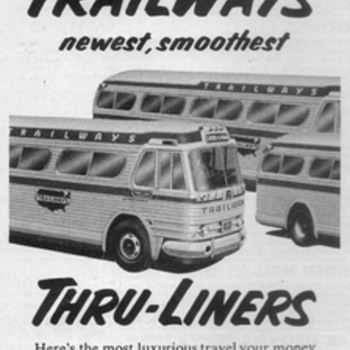 1954 - Trailways Bus Advertisement - Advertising
