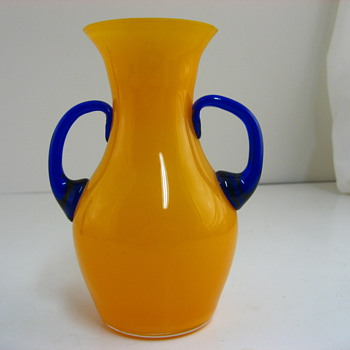 non loetz-oval marked-tango vase - Art Glass