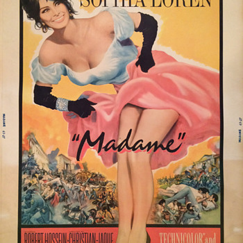 Madame starring Sophia Loren original Movie Poster 1962