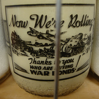 Unusual War Slogan Milk Bottles............ - Bottles