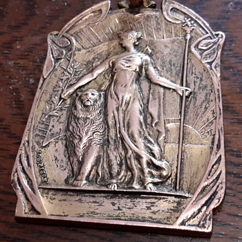 1906 Antique French medal  - Costume Jewelry