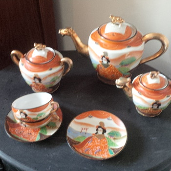 Handpainted Japanese Tea Set