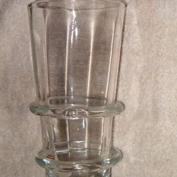 Free Blown Glass Vase with applied Rings Id.? - Glassware