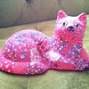 funky decoupage patchwork cat