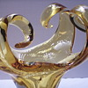 "4 Branch Center Piece Bright Yellow Bowl""Chalet Canada 1960-70"""