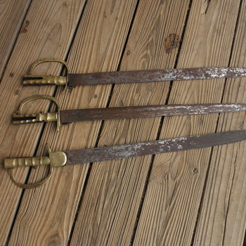 Brunswick (?) sword bayonets possibly 1837-1847 - Military and Wartime