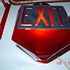 Antique Ruby Red Glass Exit Globe...Triangular Shape