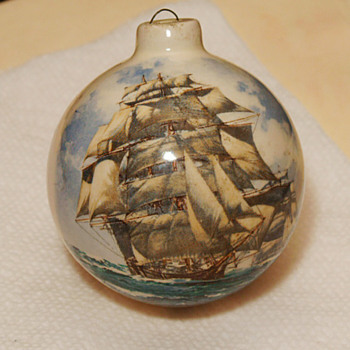 Clipper Ship on  a Xmas Ornament