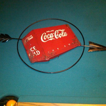 Coke Cooler Sign w/Arrow - Signs