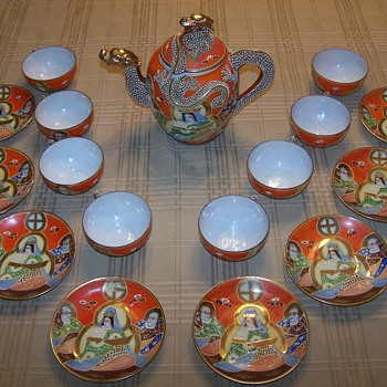 Oriental Dragon Tea Set - Asian