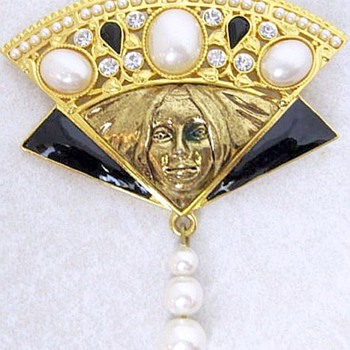 Edgar Berebi Mask Brooch, Limited Edition