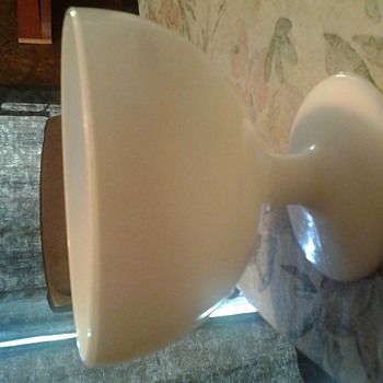 what is this milk glass piece? - Glassware