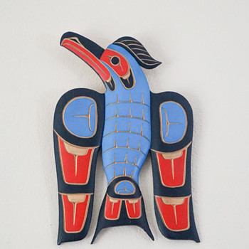 John Patrick Spence Blue Jay Plaque - Native American