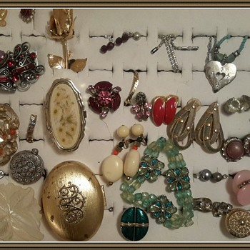 Vintage costume jewelry found in Fayetteville Louisana
