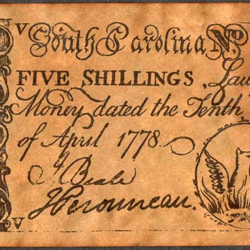 Colonial Currency - Novelty Note (South Carolina)