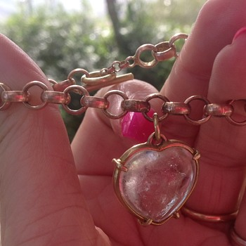 Antique Bracelet with Rock Crystal charm/Pendant