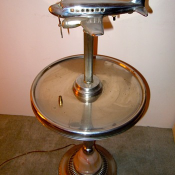 Airplane ashtray stand lamp