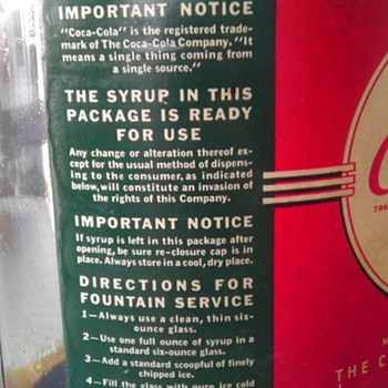 1939 Coca-Cola Syrup Jug 