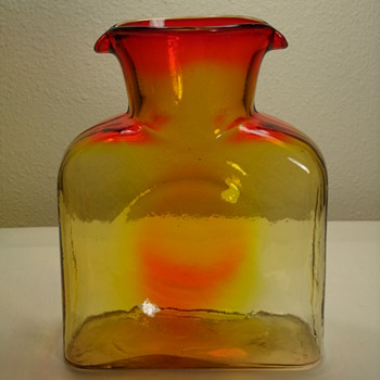 Blenko Tangerine 2 Spout Decanter